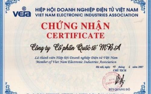 MBA LÀ THÀNH VIÊN ICT DISTRIBUTOR CLUB CỦA HIỆP HỘI DOANH NGHIỆP ĐIỆN TỬ VN-VEIA